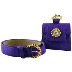 Edouard Rambaud Vintage Purple Belt Bag