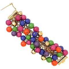 1990s Gianni Versace multicoloured beaded bracelet