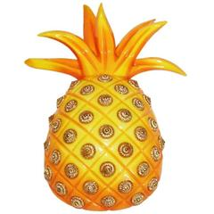 Huge & collectable pineapple brooch of the 80s by Isabel Canovas
