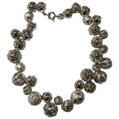 1990s Gianni Versace ball necklace with cutout detailing