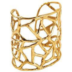 Africa Gold-Plated Bronze Cuff Bracelet
