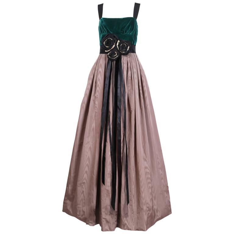 Rosette Bodice Tulle Skirt Dress
