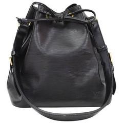 Louis Vuitton Petit Noe Black Epi Leather Shoulder Bag