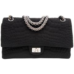 Chanel Large 2.55 Black Fabric Bag