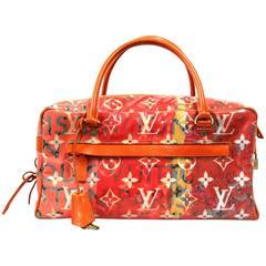 2008 Louis Vuitton Orange Special Edition Pulp Weekender GM Duffle Bag