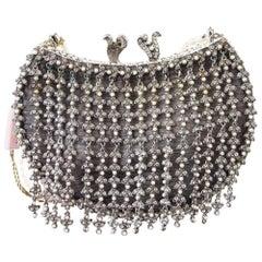 Edidi Bag / Clutch Jewel Pearl Encrusted Hand Made Evening Purse Pearl Handle