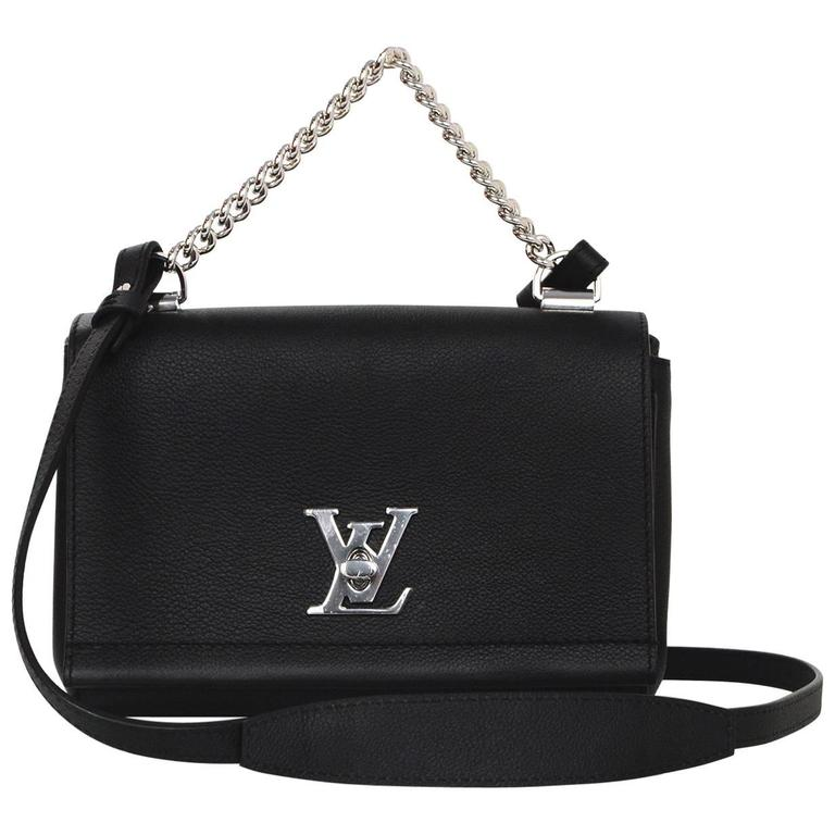 7bd1896672332 Louis Vuitton 2016 Black Leather Lockme II BB Crossbody Bag at 1stdibs