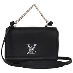 Louis Vuitton 2016 Black Leather Lockme II BB Crossbody Bag