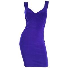 NWT Vintage Tadashi Shoji 1990s Purple I Magnin Sexy Bodycon Bandage 90s Dress