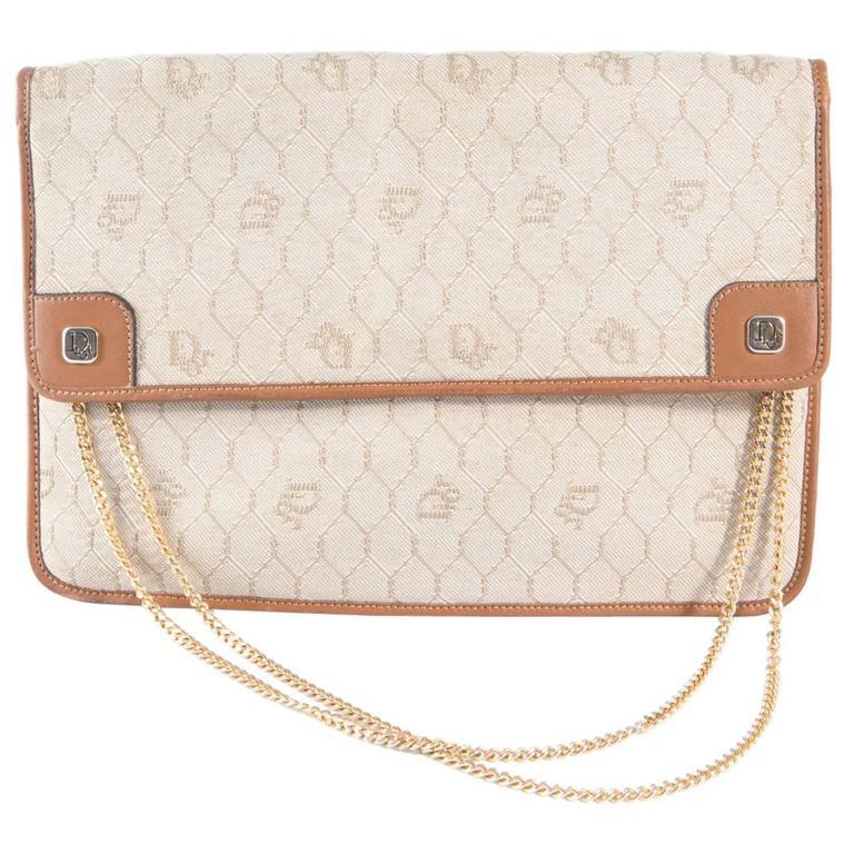 1970s Christian Dior Camel Logo Shoulder Bag