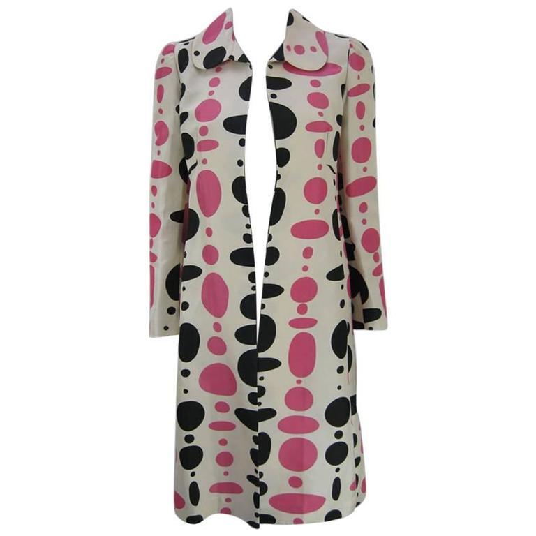 Marni Polka Dot Cotton and Silk Coat