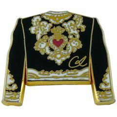 Christian Lacroix Vintage Enamel Toreador Jacket Pin Brooch