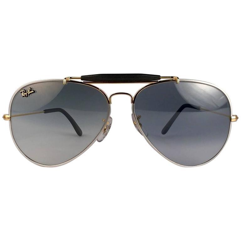 905b28d739 New Ray Ban Precious Metals 24k Gold Platinum B L Outdoorsman 58  USA  Sunglasses For Sale at 1stdibs
