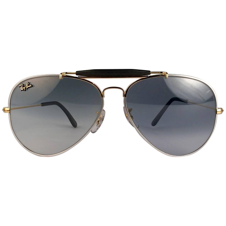 5adce3b39 New Ray Ban Precious Metals 24k Gold/Platinum B&L Outdoorsman 58' USA  Sunglasses For Sale at 1stdibs