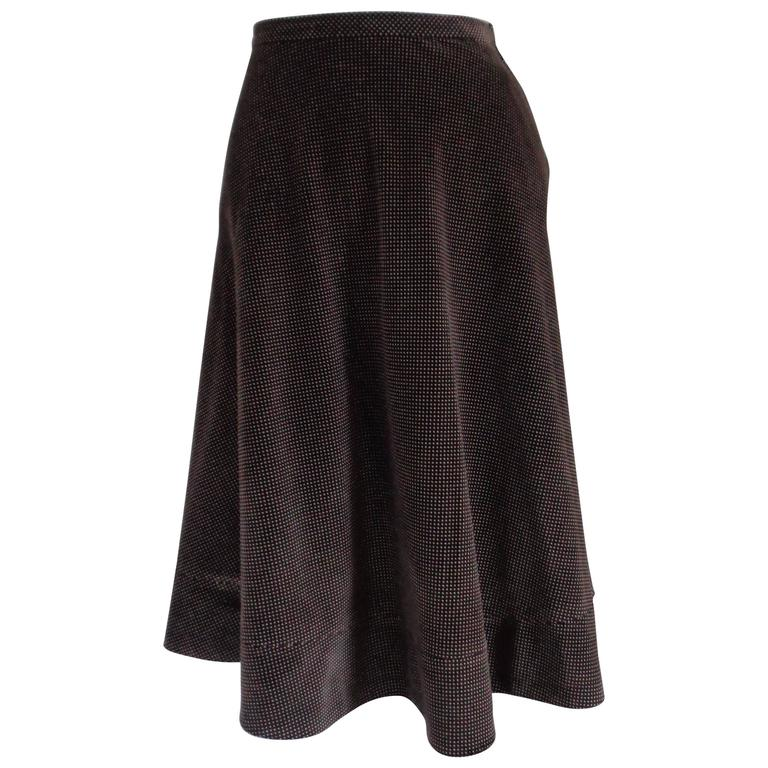 Giorgio Armani Brown white Pois Skirt