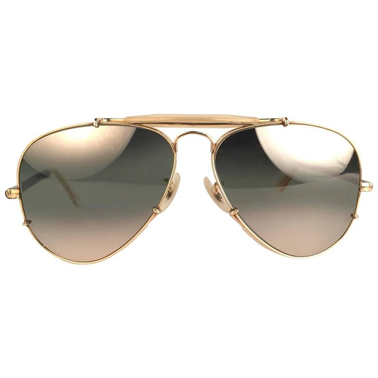 New Ray Ban Deep Freeze 12K Gold Outdoorsman Collectors Item USA Sunglasses 1