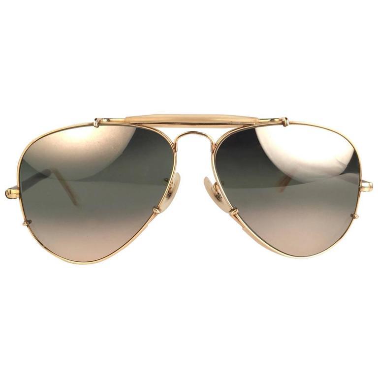 usa sunglasses  New Ray Ban Deep Freeze 12K Gold Outdoorsman Collectors Item USA ...