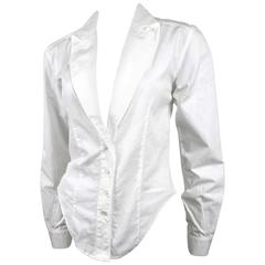 Alexander McQueen 1990's Fitted Lapel Blouse