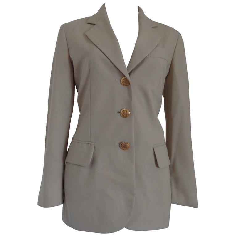 Moschino Cheap & Chic beije Wool Jacket