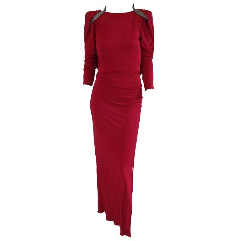 Valentino Boutique Fucsia Silk Dress NWOT