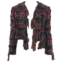 Moschino Cheap and Chic 1993-1994 Plaid Wool Jacket