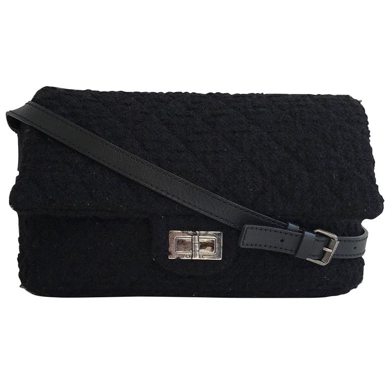 Chanel Black Bouclé Bag