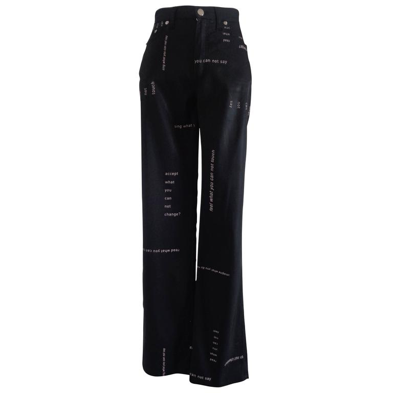 Moschino Jeans Black Jeans For Sale