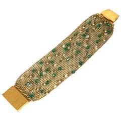 Sandor Jeweled Mesh Bracelet