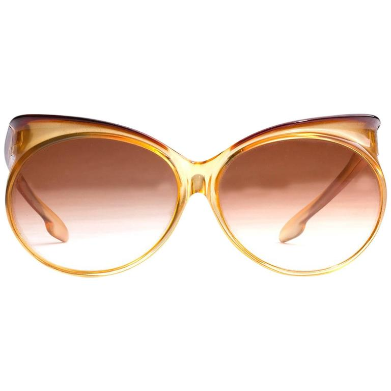 YVES SAINT LAURENT Vintage Orange mod.7953 Oversized SUNGLASSES For Sale