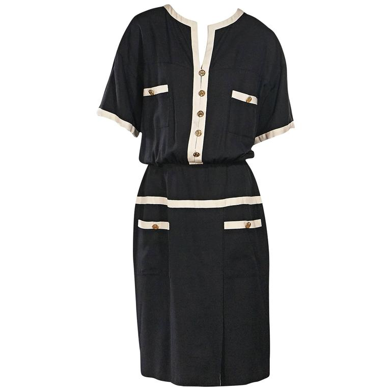 Black & White Vintage Chanel Dress