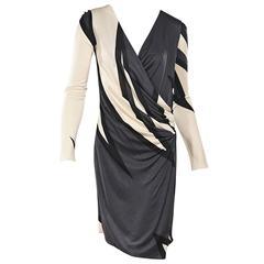 Grey & Ivory Emilio Pucci Printed Dress