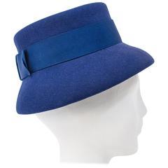 60s Violet Wool Felt Hat