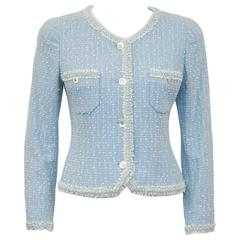 Spring 1997 Chanel Baby Blue Boucle Jacket