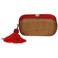 Rare Bottega Veneta Tag and Red Knot Bag
