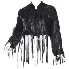 Issey Miyake Fringed Leather Jacket