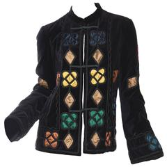 Bohemian Style Velvet Jacket by Armani
