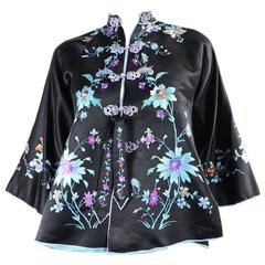1930's Chinese Silk Jacket with Hand Embroidery