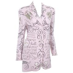 Exquisite L'Art D'Ecrire Vintage Jacket with Beautiful script and calligraphy