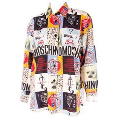 Moschino 1990s Slogan Printed Shirt