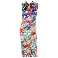 Issey Miyake Pleats Please Gemstone Printed Dress