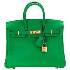 2014 Hermes Bambou Swift Leather Birkin 25cm