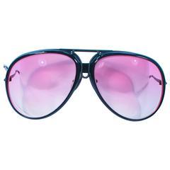 PORSCHE CARRERA 1980's Black Interchangeable Frame Sunglasses Large 135 65