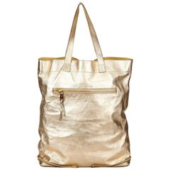 Chloe Gold Metallic Leather Tote