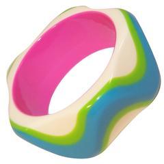 Color Pop 1980's Chunky Bangle Bracelet