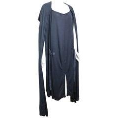 Yves Saint Laurent by Stefano Pilati Grey Wool Long Maxi Dress