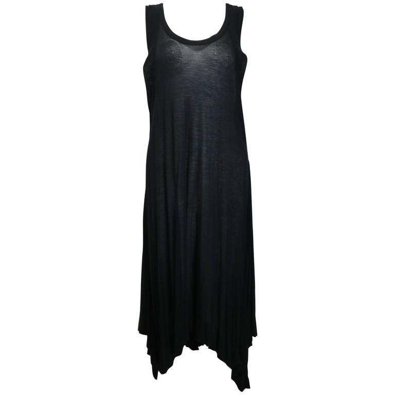 Ann Demeulemeester Black Asymmetrical Long Dress