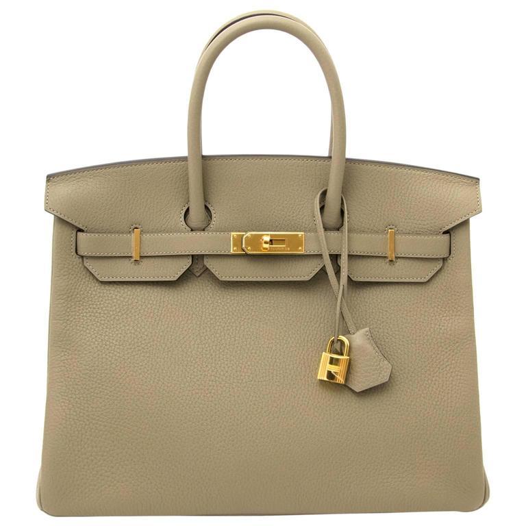 Hermès Birkin 35 Taurillon Clemence Sauge 1