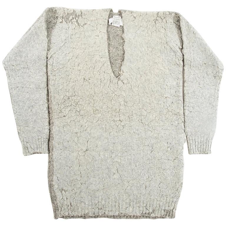 Maison Martin Margiela Autumn-Winter 1998 oversized plastic coated sweater