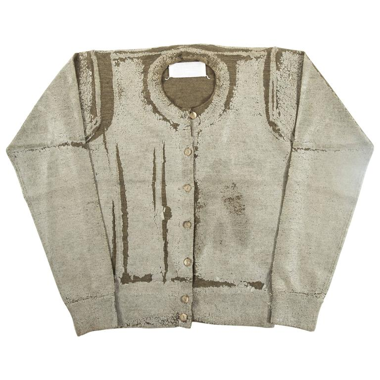 Maison Martin Margiela Autumn-Winter 1998 plastic coated cardigan and vest set