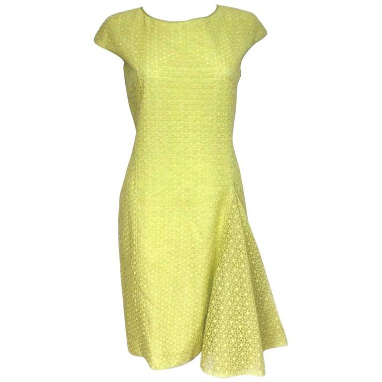 New Giambattista Valli Lime Lace Dress IT 40 UK 8  1